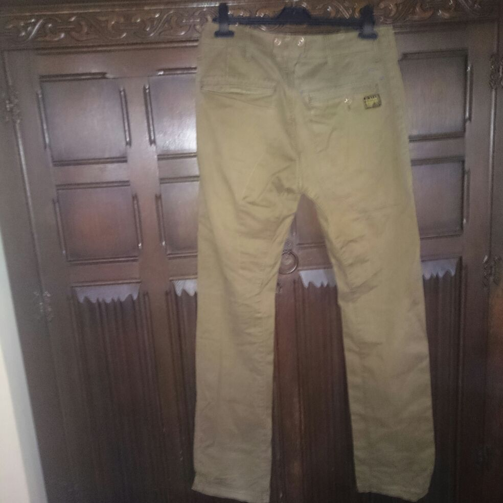 G STAR RAW MEN ARCTIC OMEGA TAPERED BRACES BROWNE TROUSER size 28/32