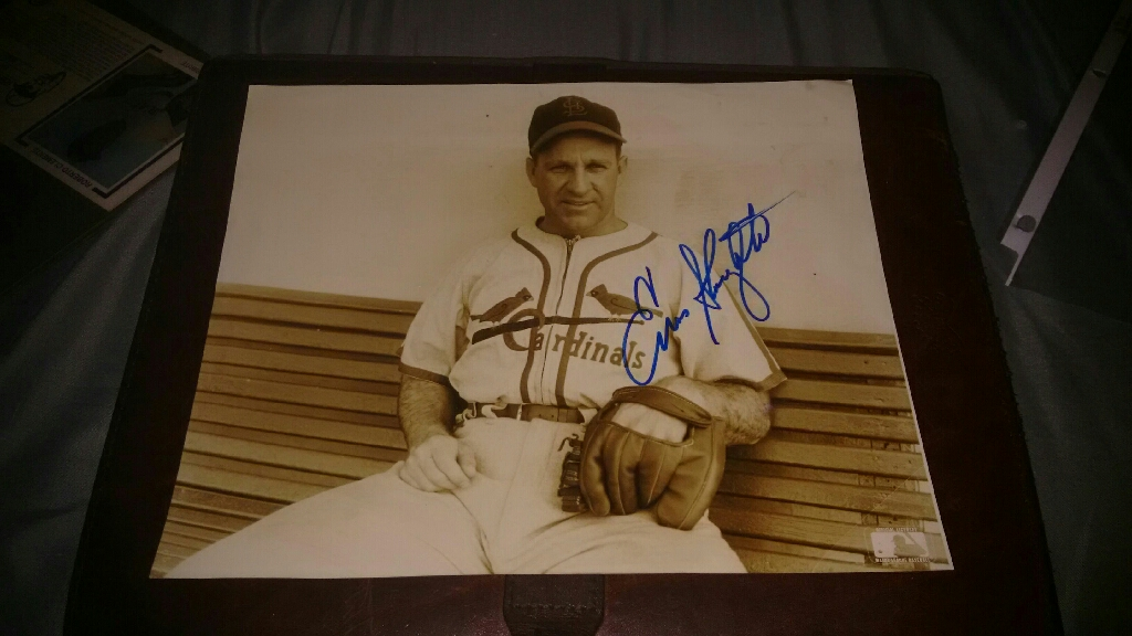 Autographed Enos Slaughter Glossy 8x10 Photo