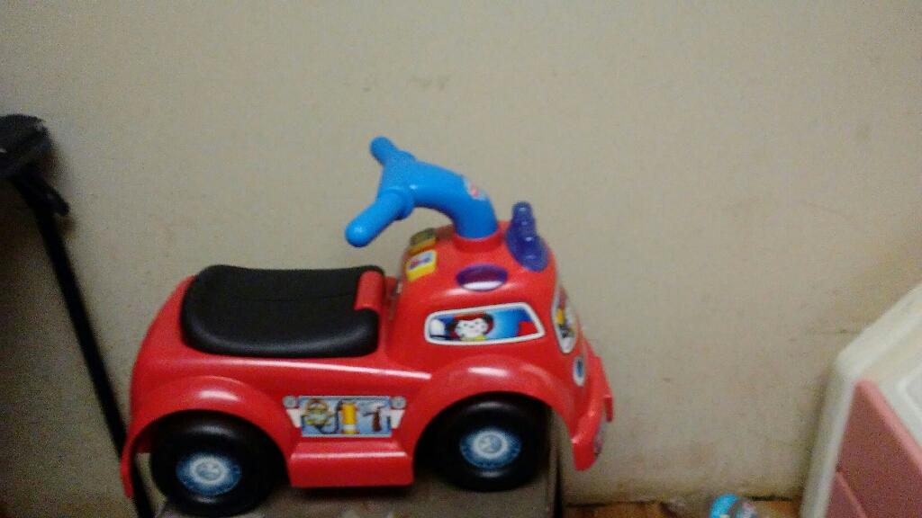 I'm pushing ride fire truck