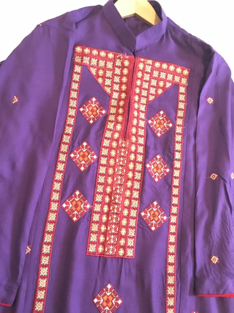 Patterned Purple Frock 🍇