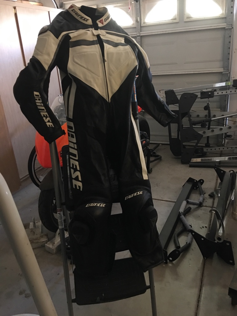 3 Dainese items and SHOEI Helmet