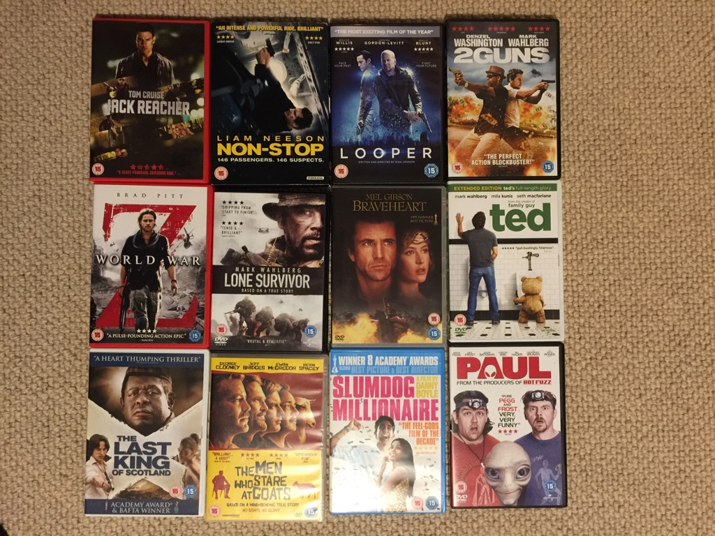 DVD Bundle 12 movies (all 15 certificate)