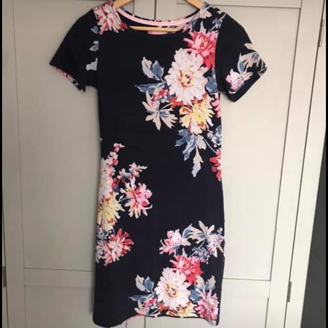 Joules navy floral dress size 8 very good condition