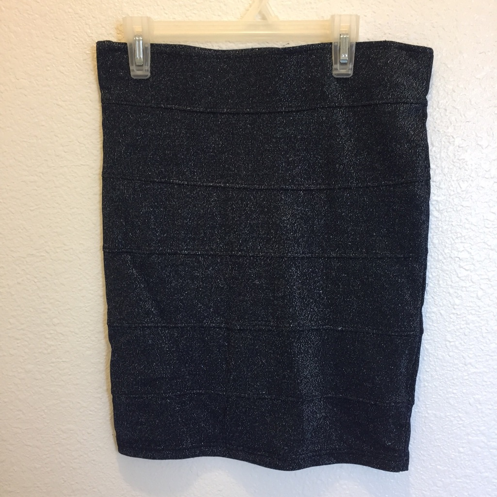 Navy silver sparkle skirt
