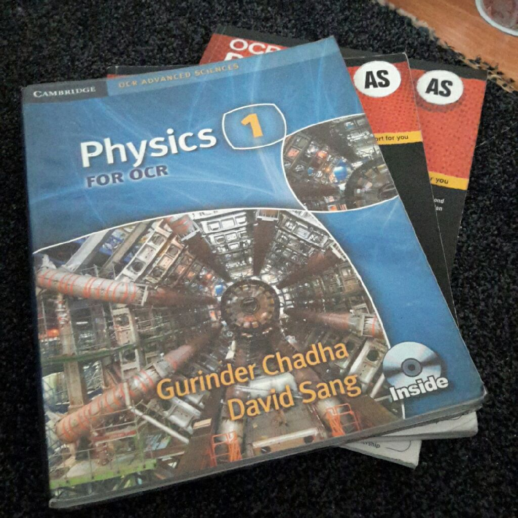 3 Physics OCR Books for AS/ A level