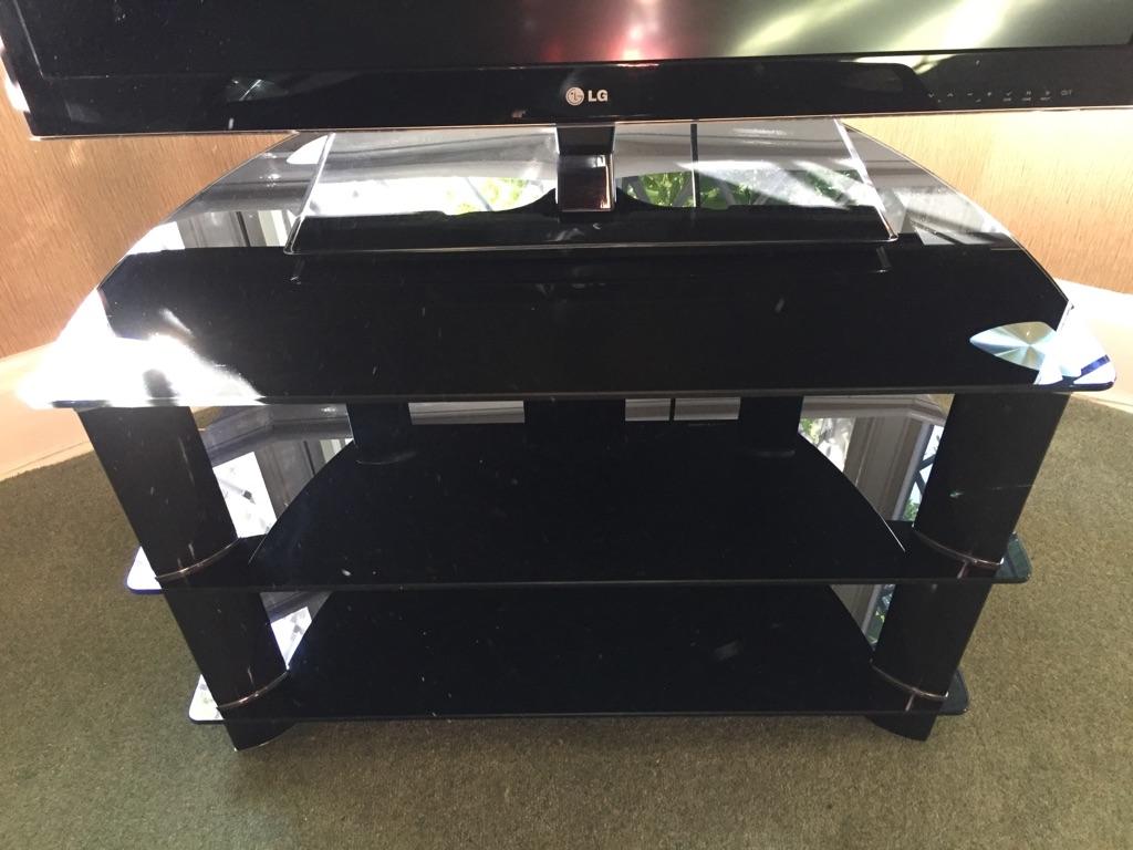 Modern Black & Chrome TV stand