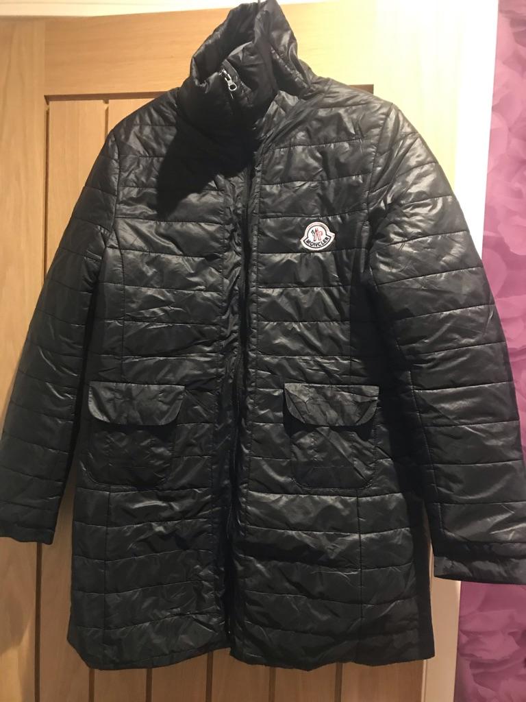 Moncler long black coat