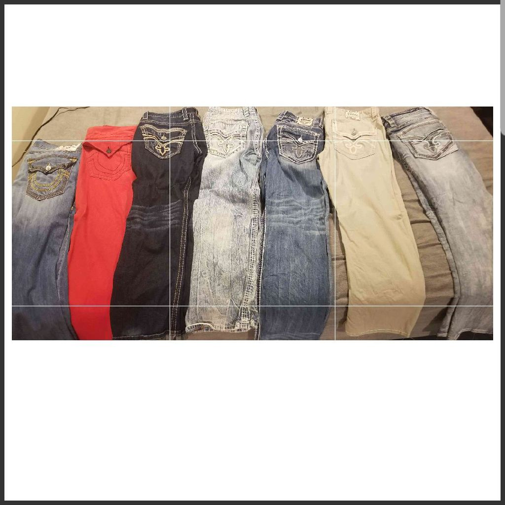 True Religion and Rock Revival Jeans