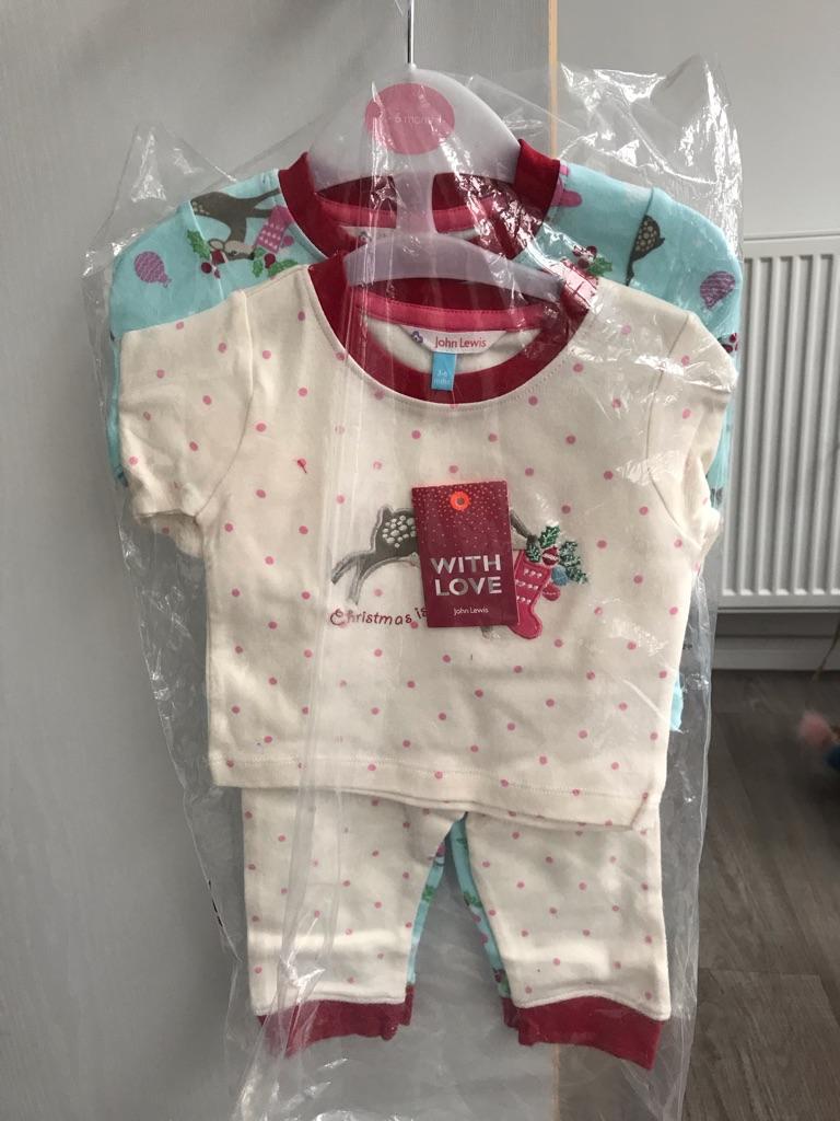 Baby girls Christmas pyjamas