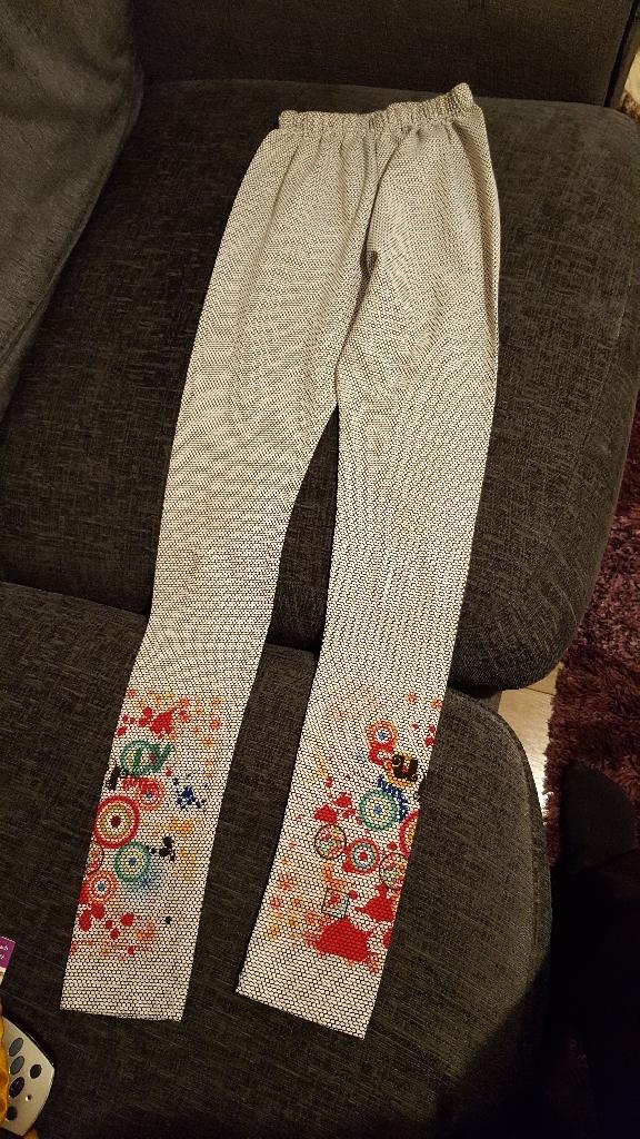 Girls Printed Cotton Leggings-10 years