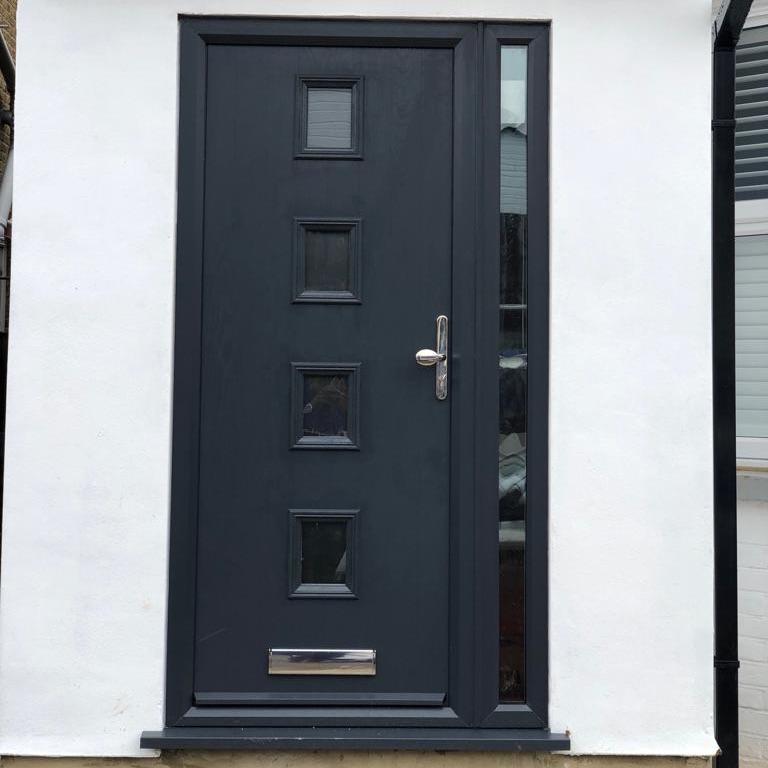 Composite door front