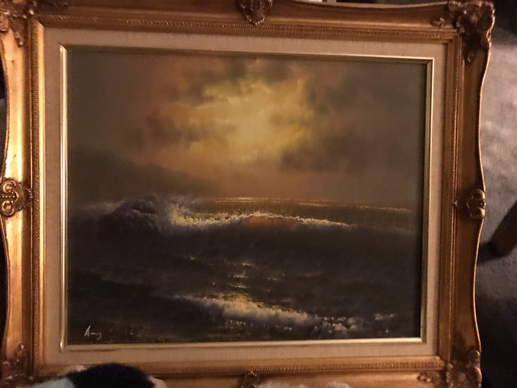 Oil painting ocean sea scene