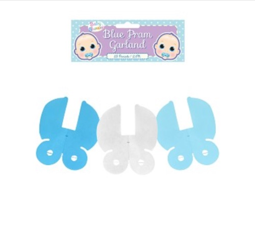 Decoration garland pram blue 2.6m