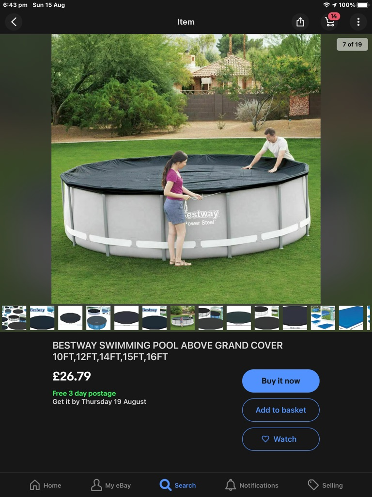 10ft pool with filter and cover