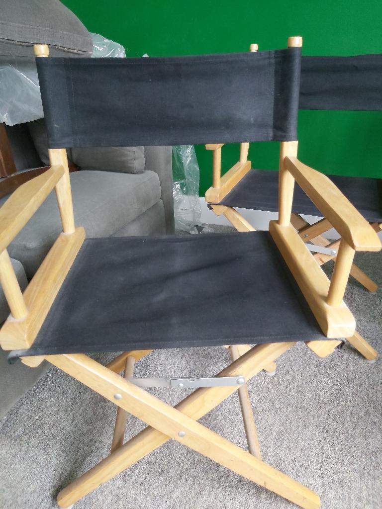 Directors chairs x 4