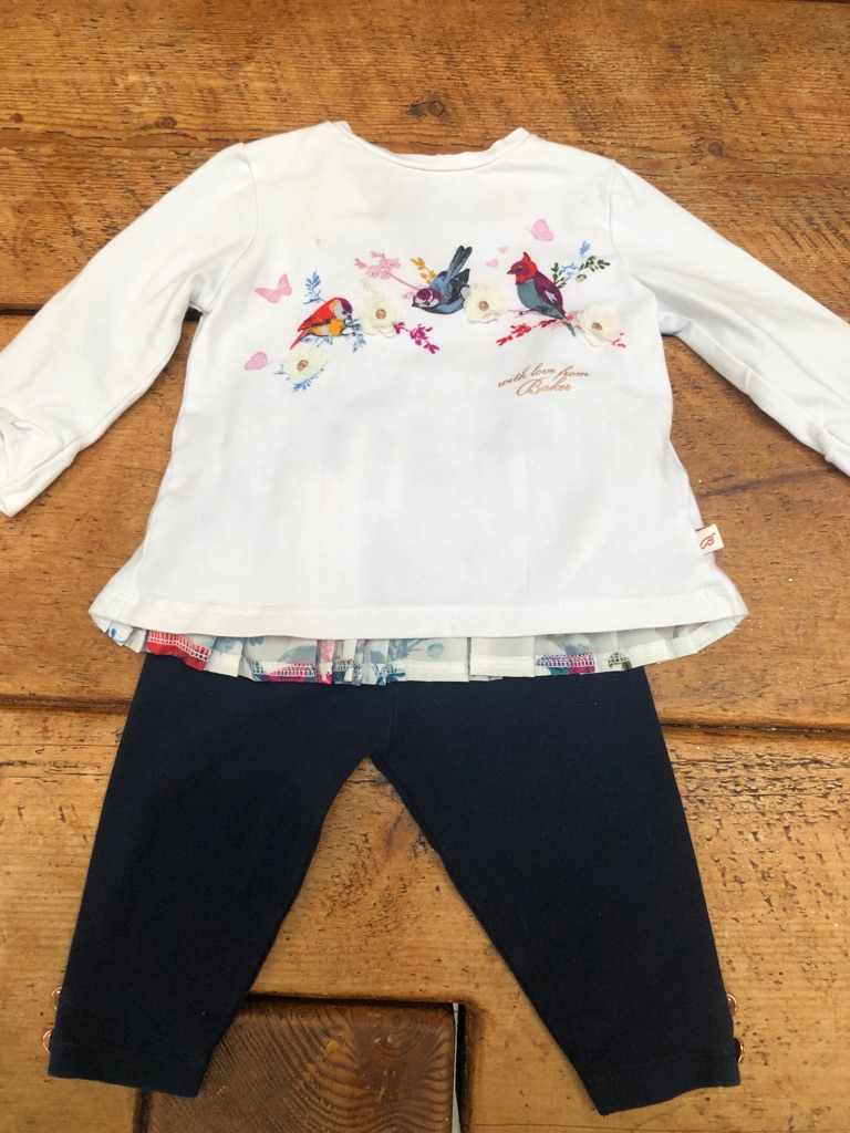 Ted Baker top and leggings 3 to 6 month