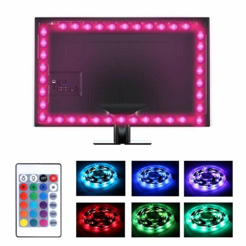 USB TV BACK LIGHT RGB BACKLIGHT LED LIGHTS 4 STRIPS BACKGROUND WITH REMOTE 5V0K