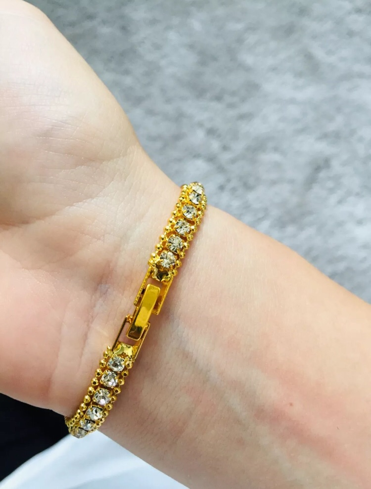 Ladies gold plated Crystal bracelet