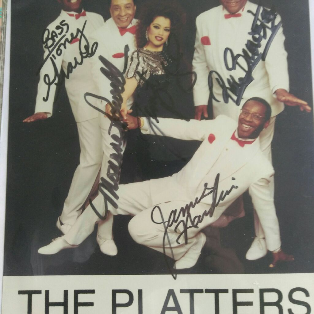 8 x 10 photographer signing of The Platters