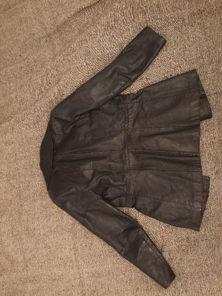 Navy blue size 10 leather jacket