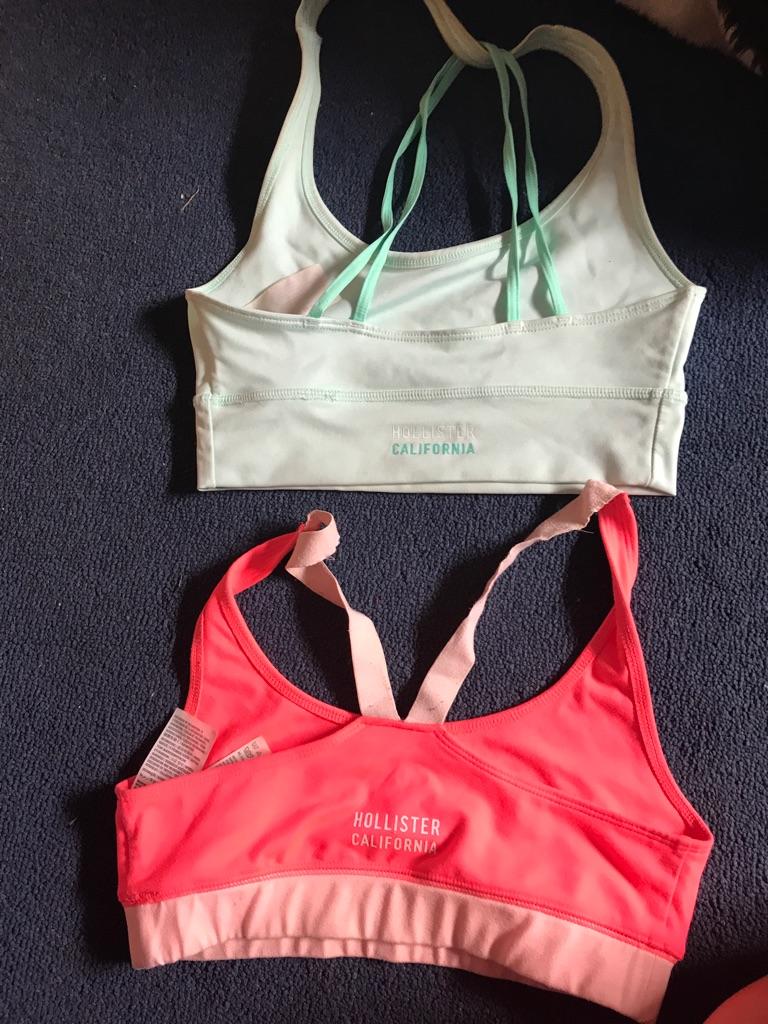2 holister sports bras