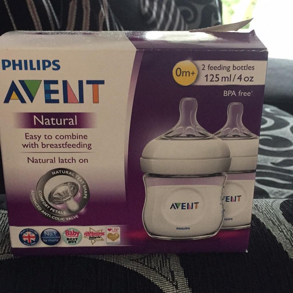 BRAND NEW Philips Avent Natural 125ml bottles