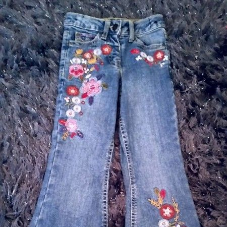 Age 5 monsoon flared embroidered jeans