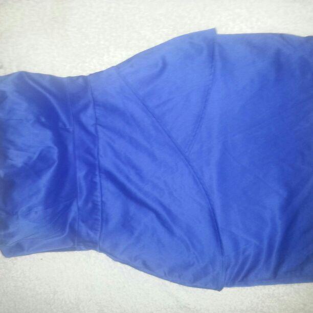 Electric blue mini boobtube dress