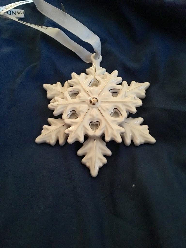 Pandora Christmas snowflake ornament