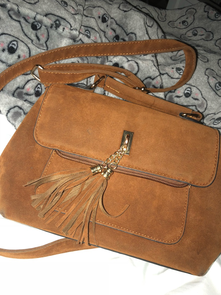 Brown river island bag