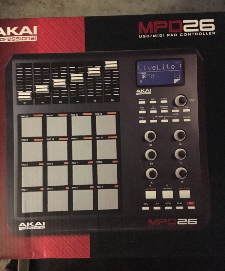 Akai MPD26 USB / MIDI Pad Controller