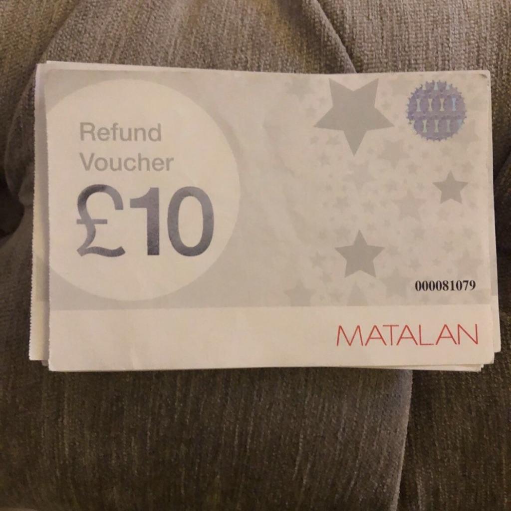 £64 of refund vouchers
