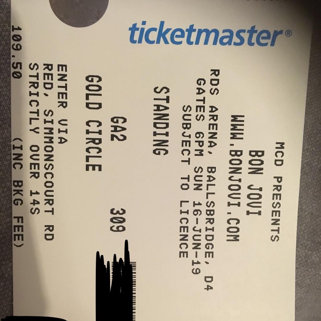 Bon Jovi Gold Circle Tickets
