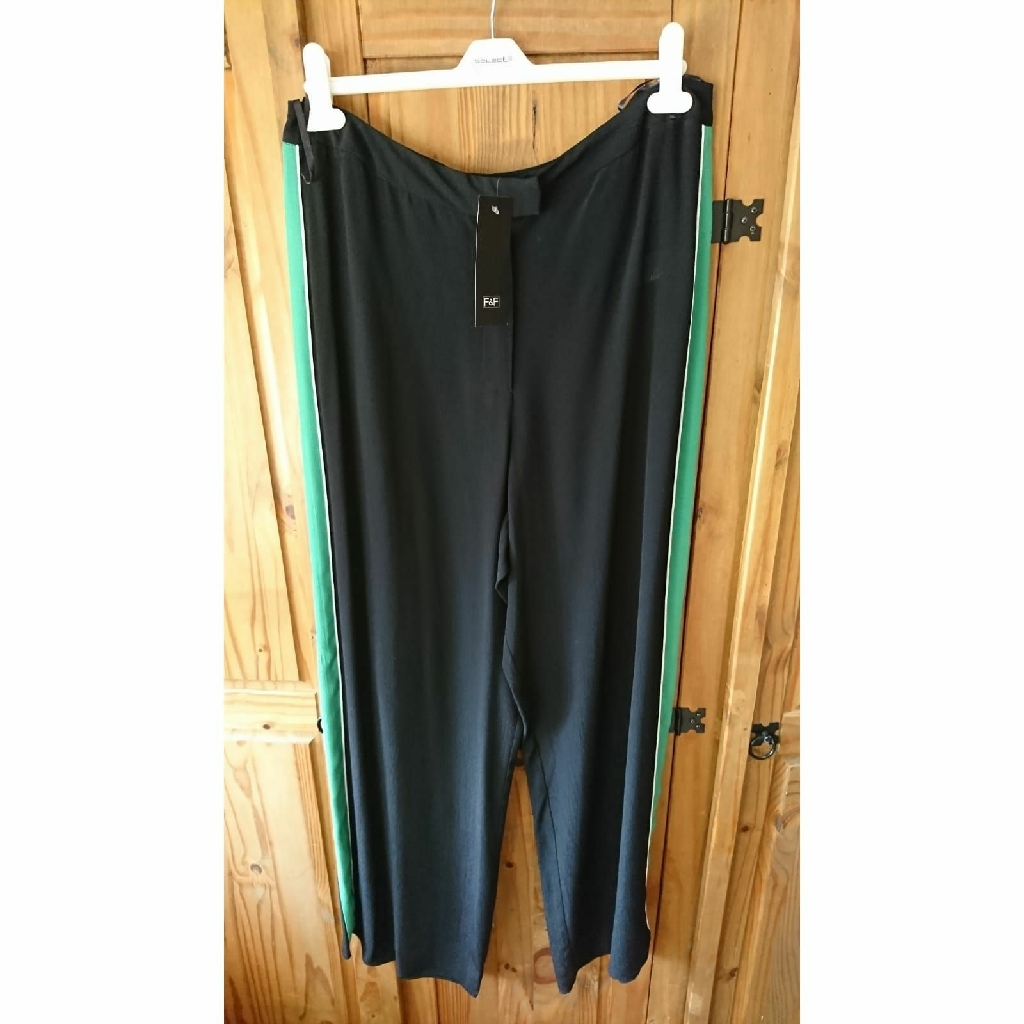 Tesco F&F Wide Leg Trousers Size 16 Brand New Not Newlook Or Asos