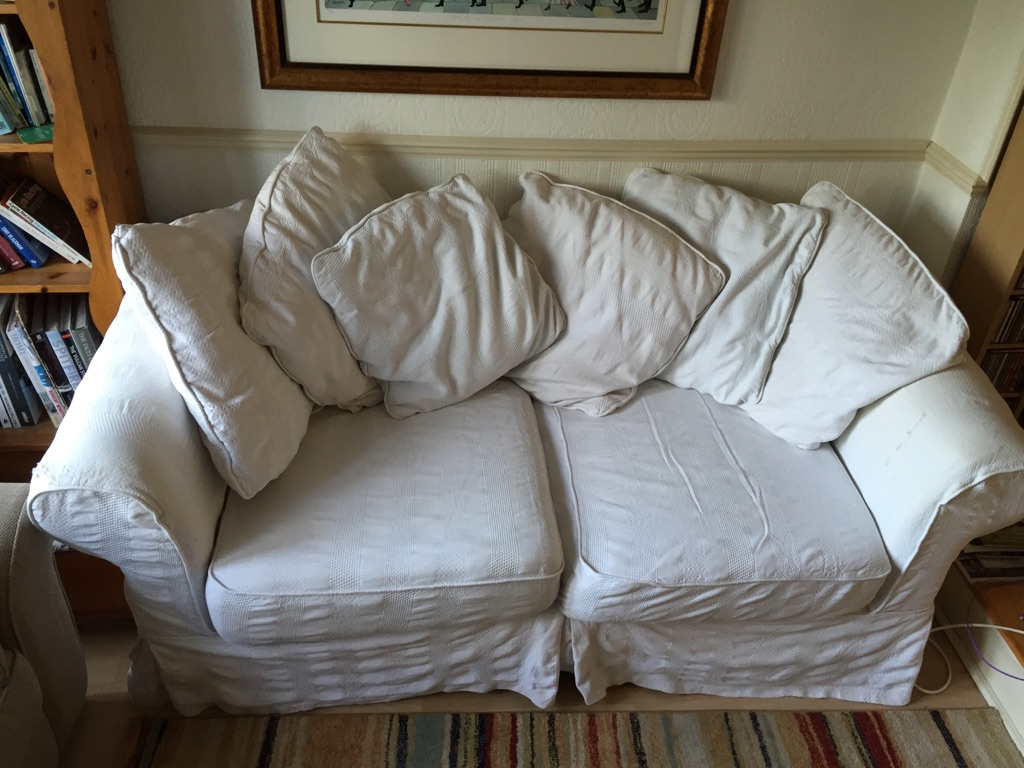 Cream 3 Seater Sofa Free to  Collector
