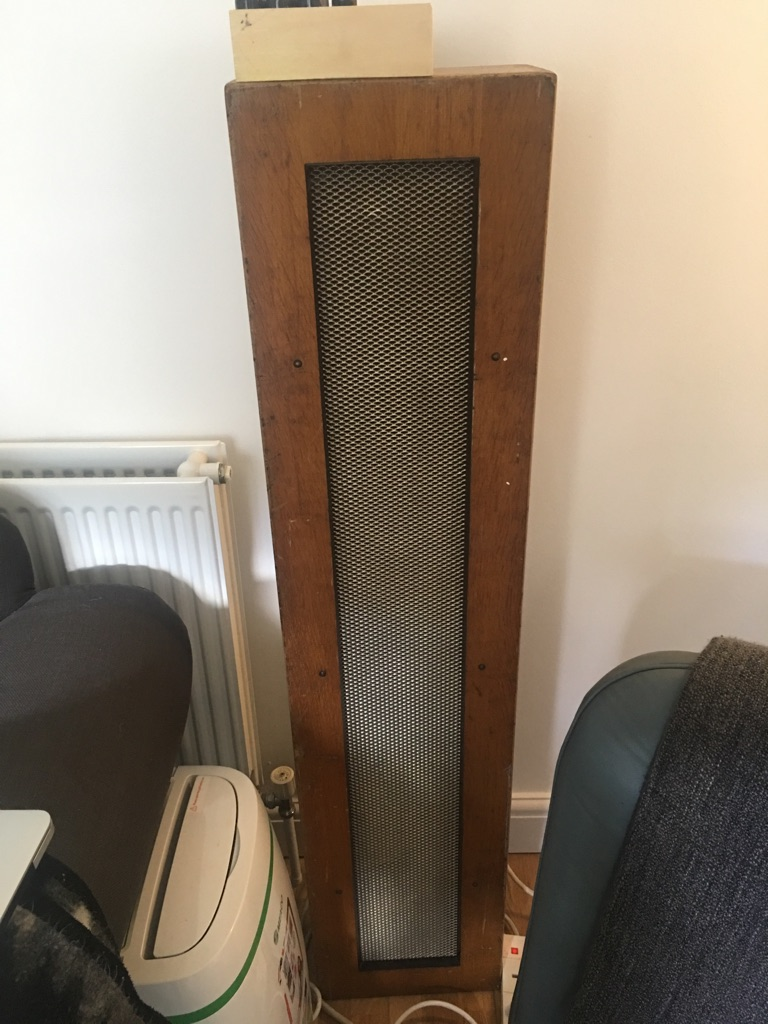 Pair of wooden speakers