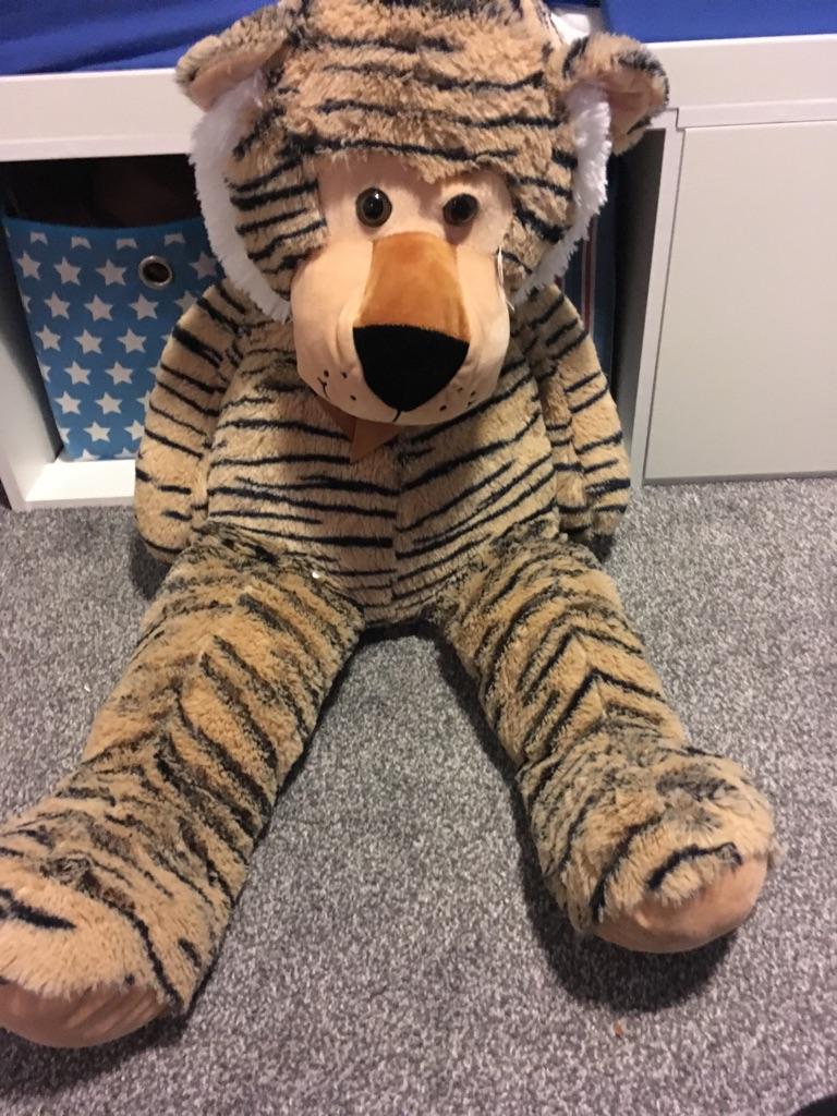 Giant tiger teddy bear