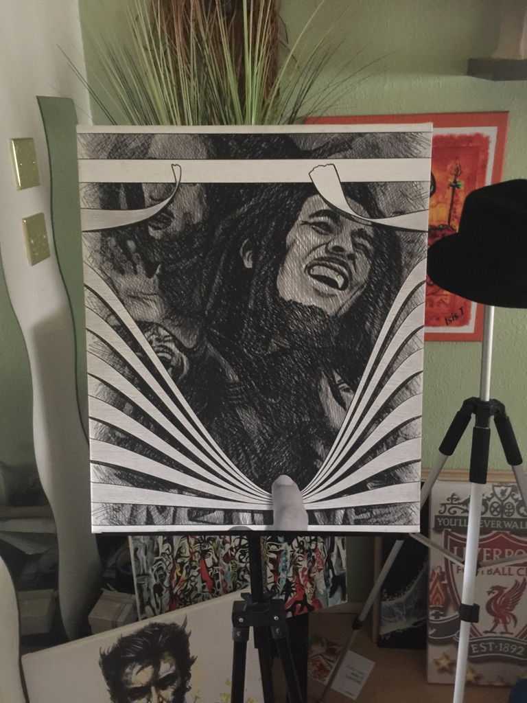 Bob Marley Canvas Wall hanging (new)