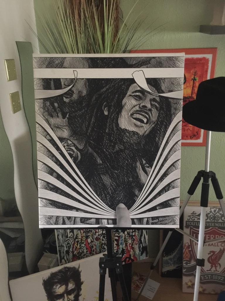 Bob Marley Canvas Wall hanging (new)