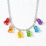 Rainbow Gummy Bear Necklace :]
