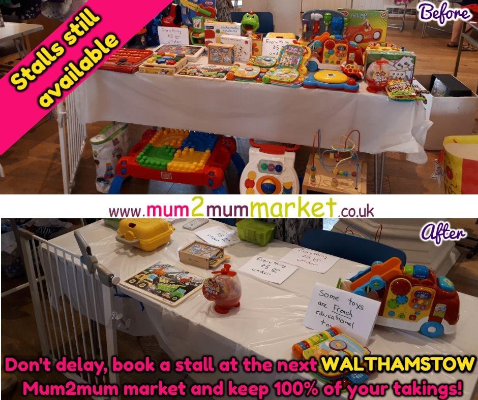 Nearly new & business stalls: Walthamstow Mum2mum baby and children's market