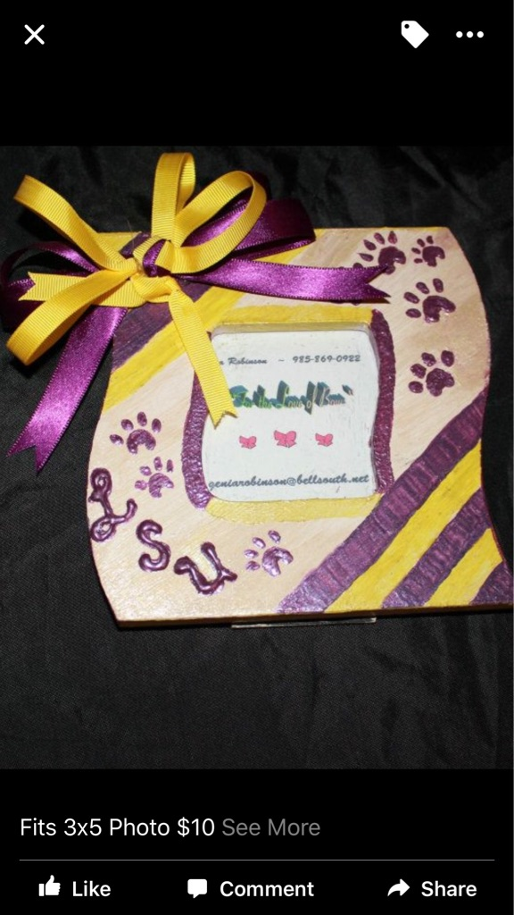Hair Bows & Picture Frames Personalized