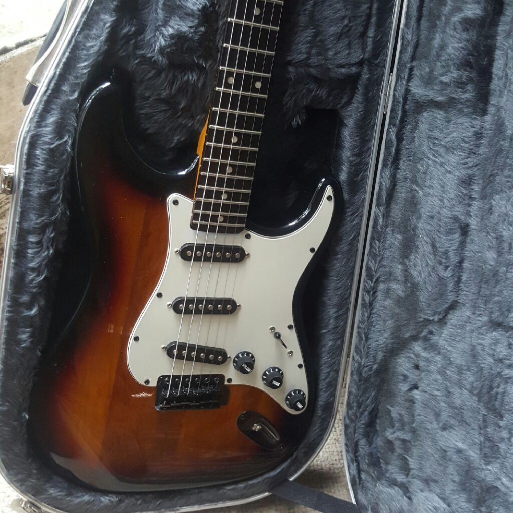 Custom built strat electric guitar