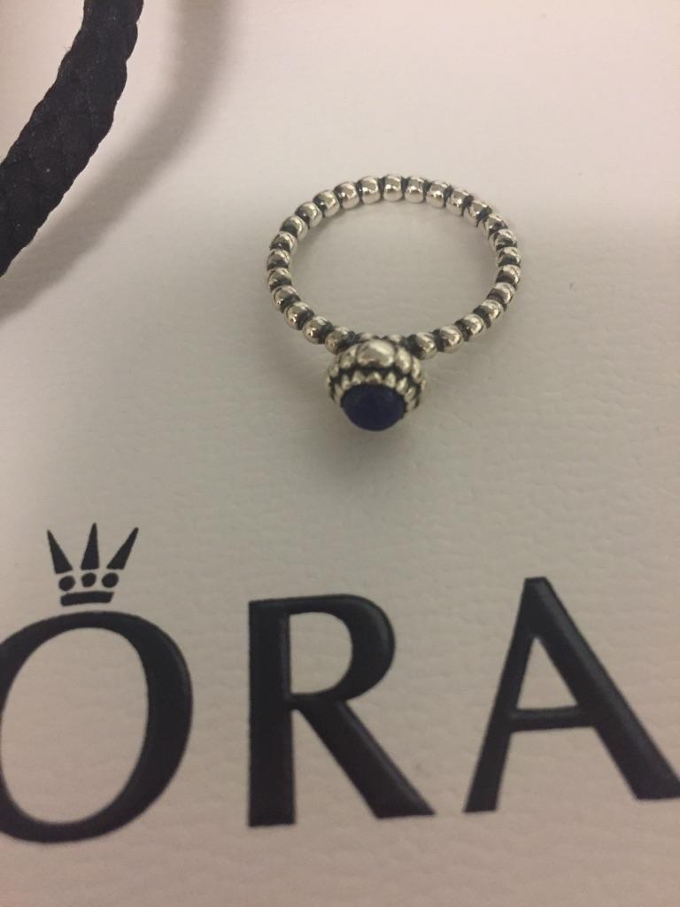 Pandora September birthstone ring