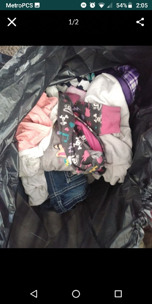 Huge bag of girl clothes.