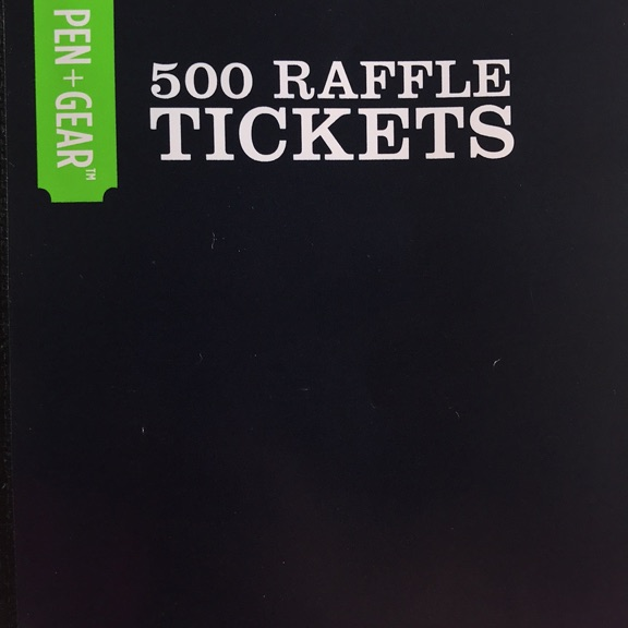 Charity raffle tickets