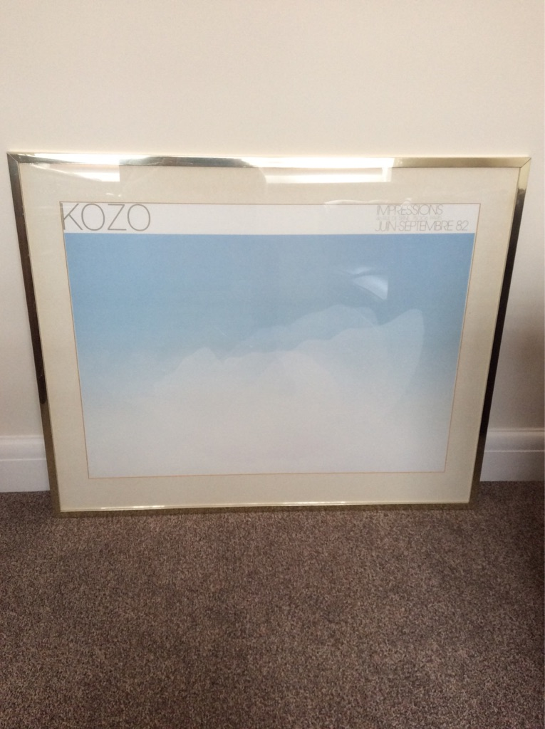 Modern Abstract Framed Print of Clouds