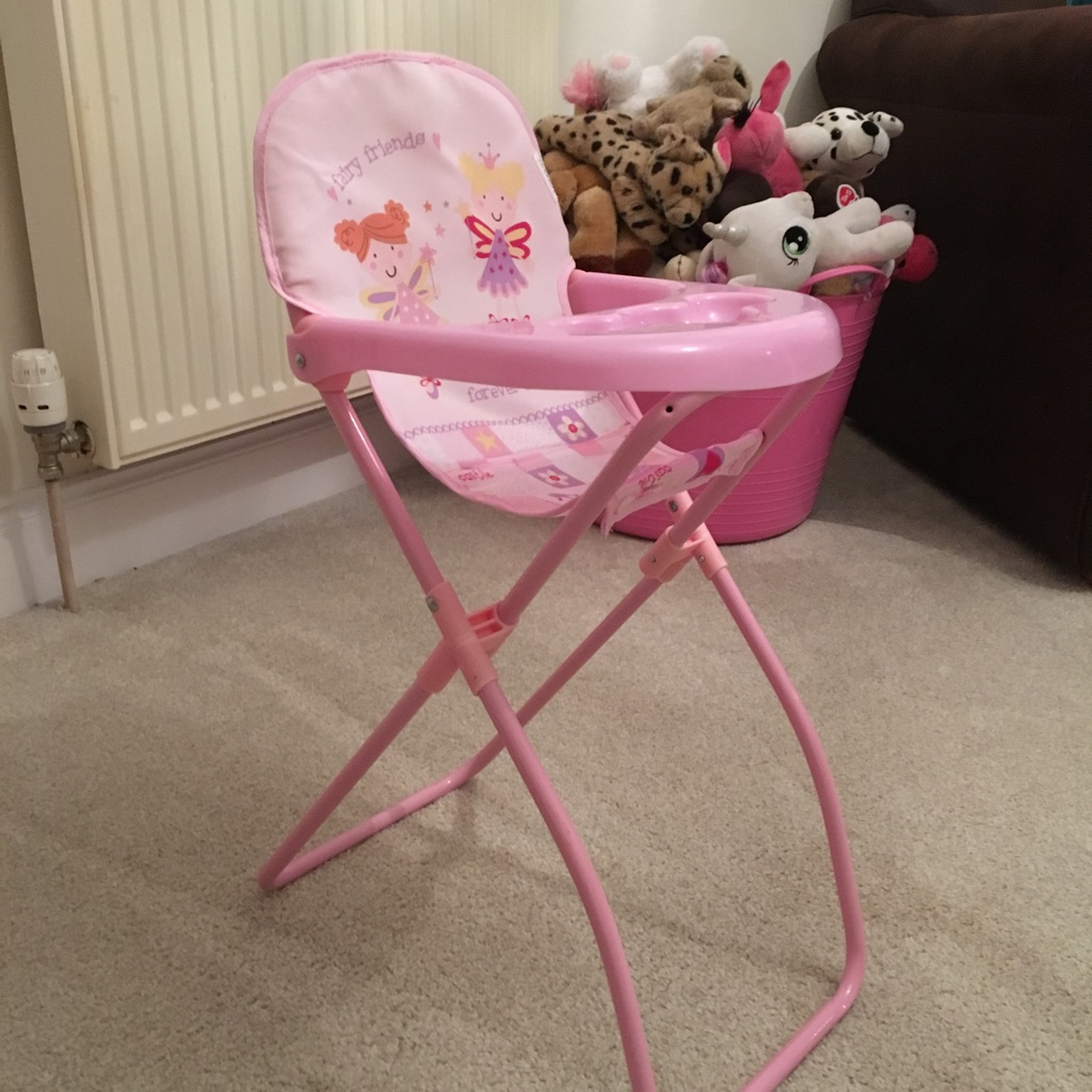 As New Dolls Highchair - Perfect Xmas Present!