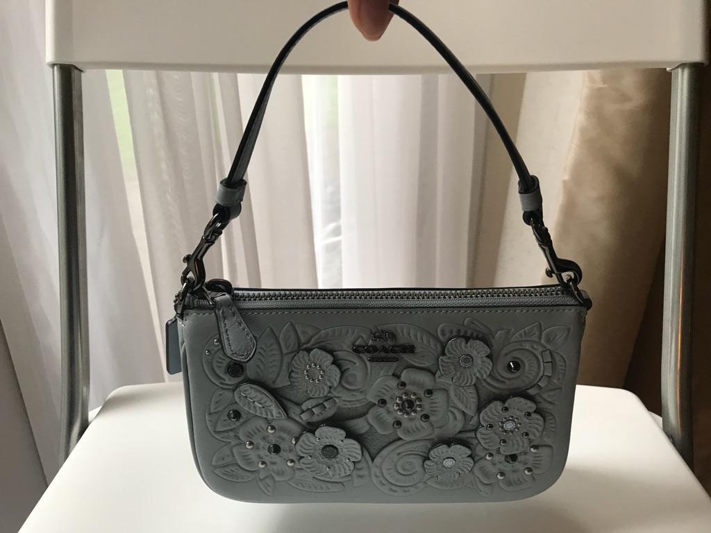 Coach pouch/clutch tea rose blue