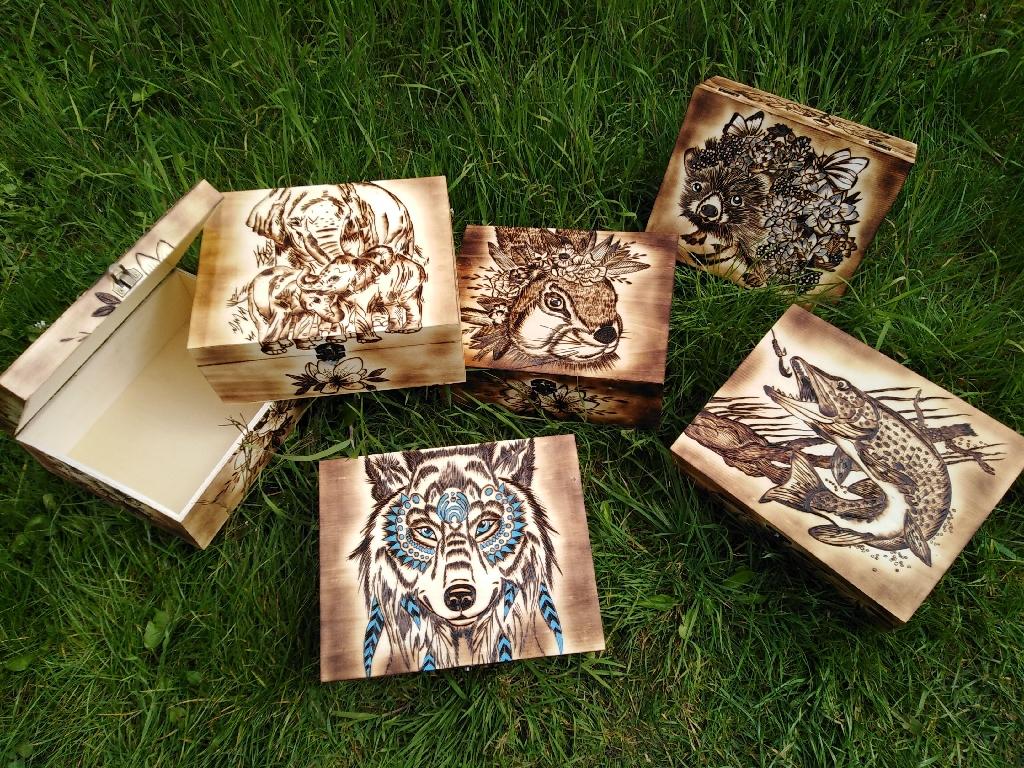 Wood burning box